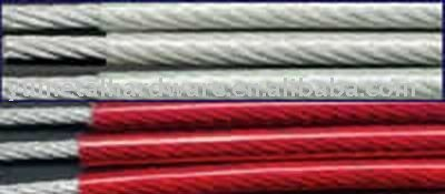 Red PVC Coated Galvanized Wire Rope 6x19 3mm