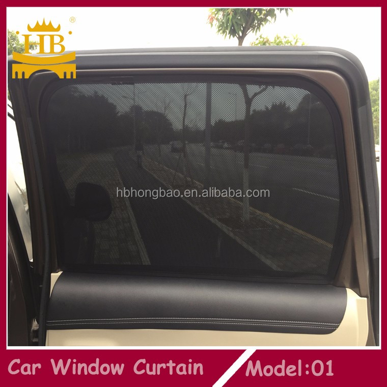 customized magnetic car window sunsahde curtains for special car