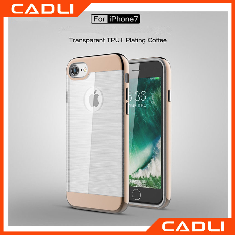 Universal Premium High Grade Acrylic TPU Brushed Transparent Back Cover For iPhone 7