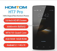 Homtom HT7 Pro 4G Mobile Phone 5.5 Inch HD IPS Mtk6735 Quad Core Android 5.1 2GB RAM 16GB ROM 8MP Cam Dual Sim Smartphone