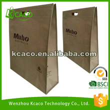 Promotional low price non woven shopping Tote Bag with Die Cut handle