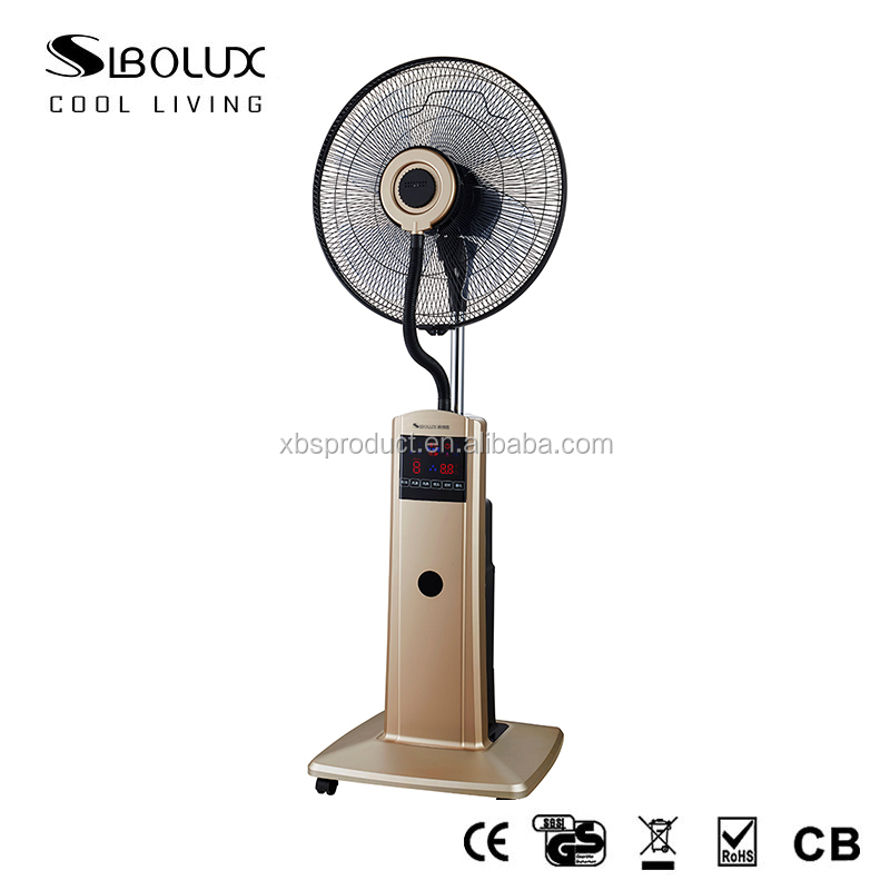 16 inch 40 cm 90w elegant Mist Air cooling Water Spray Fans with CE certificate
