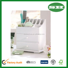 White color Simply Simily Vanity and Beauty wooden Organizer with Drawers and Storage