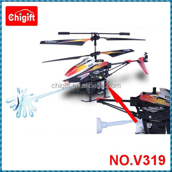 V319 3.5 Channel Water Jet Spraying Shooting Gyro RC Helicopter