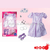 2013 New Arrival Baby Girl Dress Up Set Kids Princess Dress With Crown/Shoes/Bracelet/Earrings/Ring Princess Wedding Dress