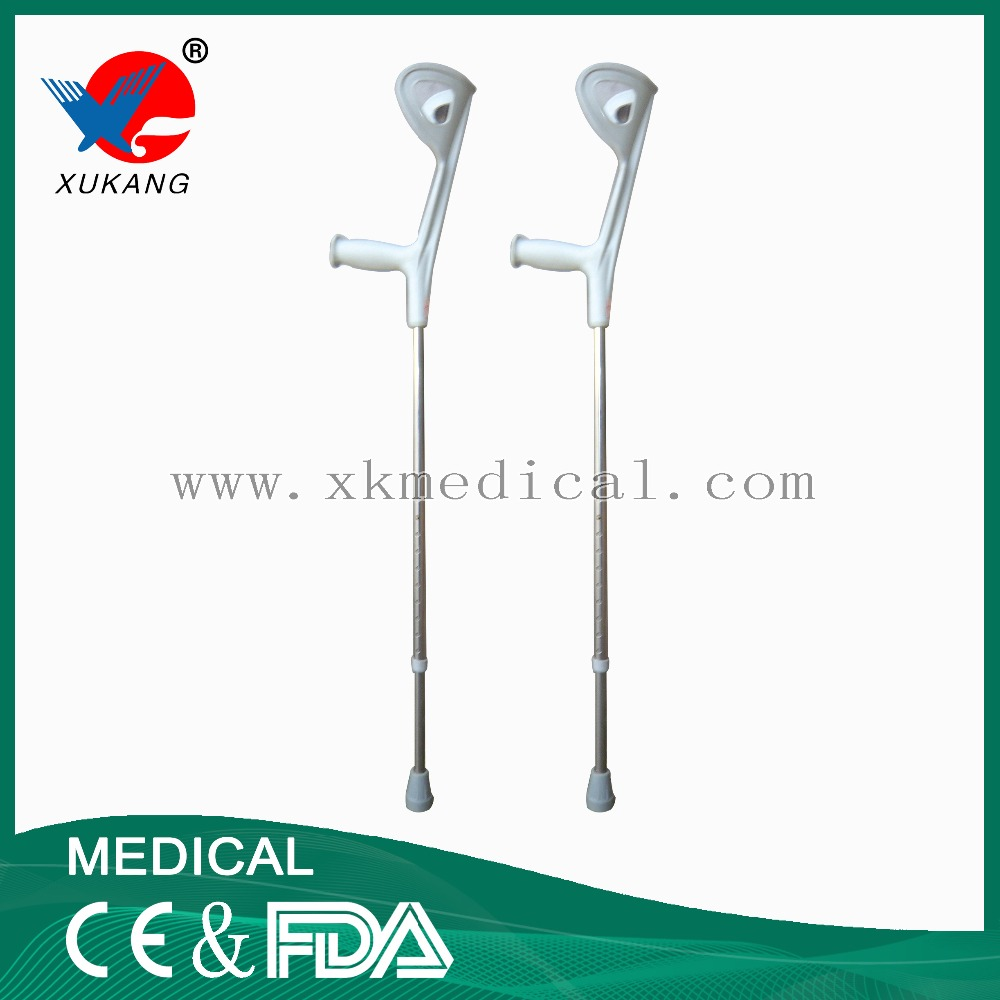 High quality aluminum alloy arm crutch,rubber crutch tips