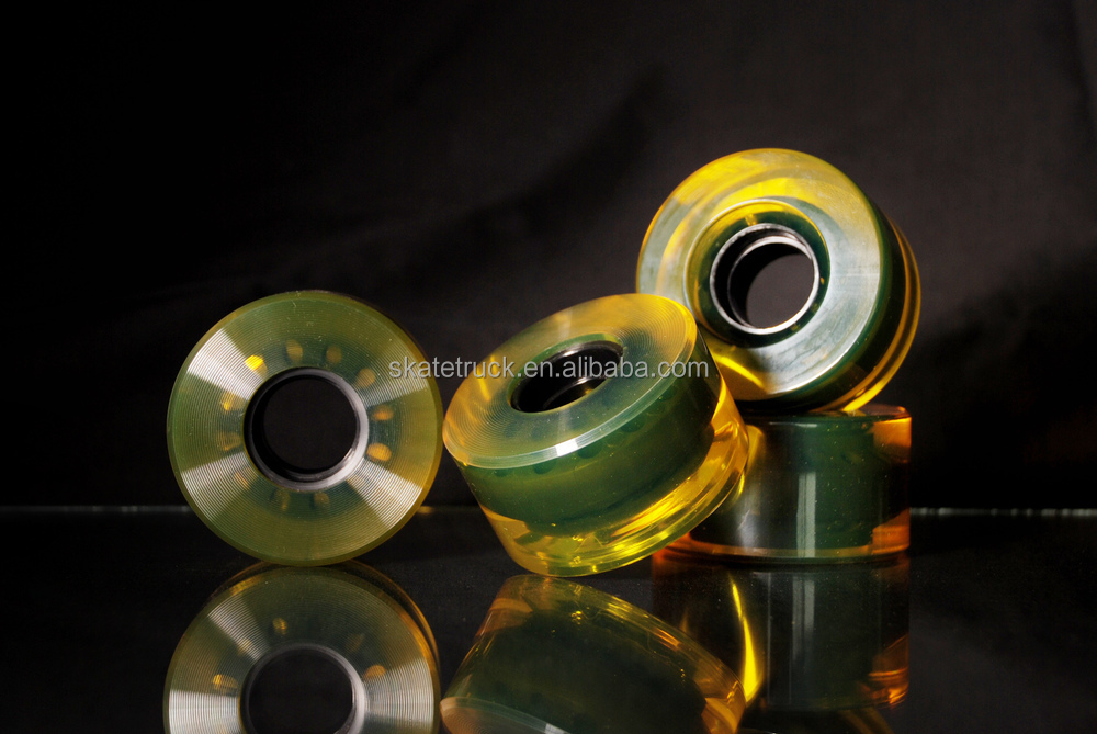 76*53mm Yellow Color Longboard Wheel Customized Logo Available