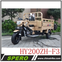 2018 Chinese Gaoline 200cc heavy duty three wheeler cargo tricycle for sale