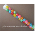 clear plastic tube with cap for party decoration