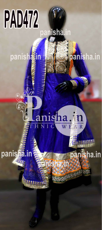Designer Royal Blue Anarkali