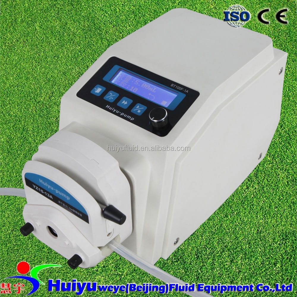 lab precision reactor liquid adding Peristaltic tube pump with timer function