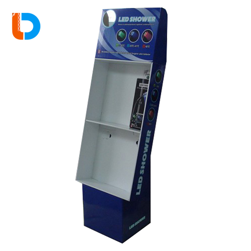 China Factory Cheap Flooring Paper Stand Box Cardboard Window Display