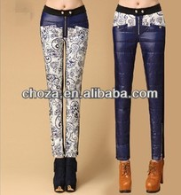 C21006A NEWEST LADY WINTER DOWN FEATHER PRINTED PANTS