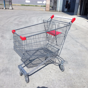 Modern Style supermarket shopping trolley, metal shopping trolley, shopping cart