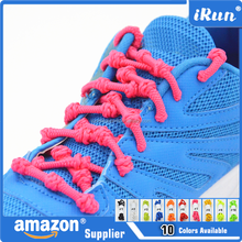 MOQ:100 pairs!!! - No Need Tie Elastic Laces with Knots - Elastic Lazy Shoe Laces Sport Triathlon Laces - Elastic Quick Shoelace
