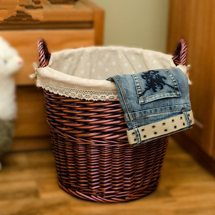 Wholesale all kinds of hand woven storage baskets, laundry baskets, dirty clothes basket