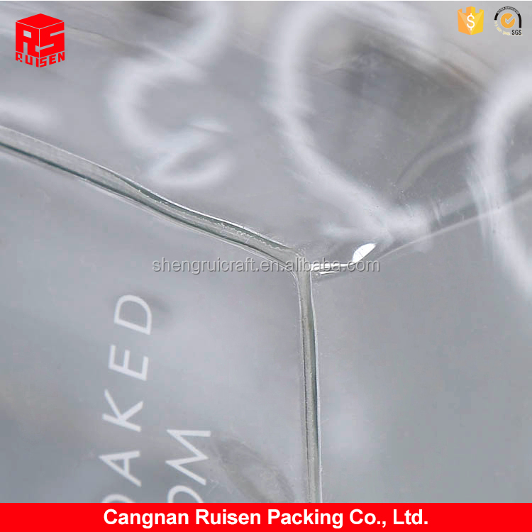 Fashion design transparent soft waterproof PVC wine / ice stand up pouch