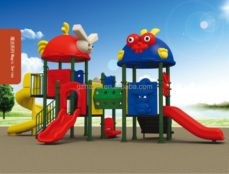 HL-02113 Funny Safe Children Outdoor Playground Plastic Slide