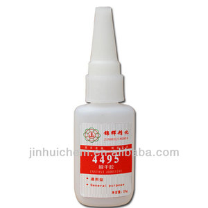 Industrial adhesive and sealant, Cyanoacrylate adhesive Instant Adhesive 495, Plastic bonder