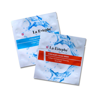 Cosmetic industry use custom printed airtight aluminum foil facial mask sheet packaging bag with tear notch