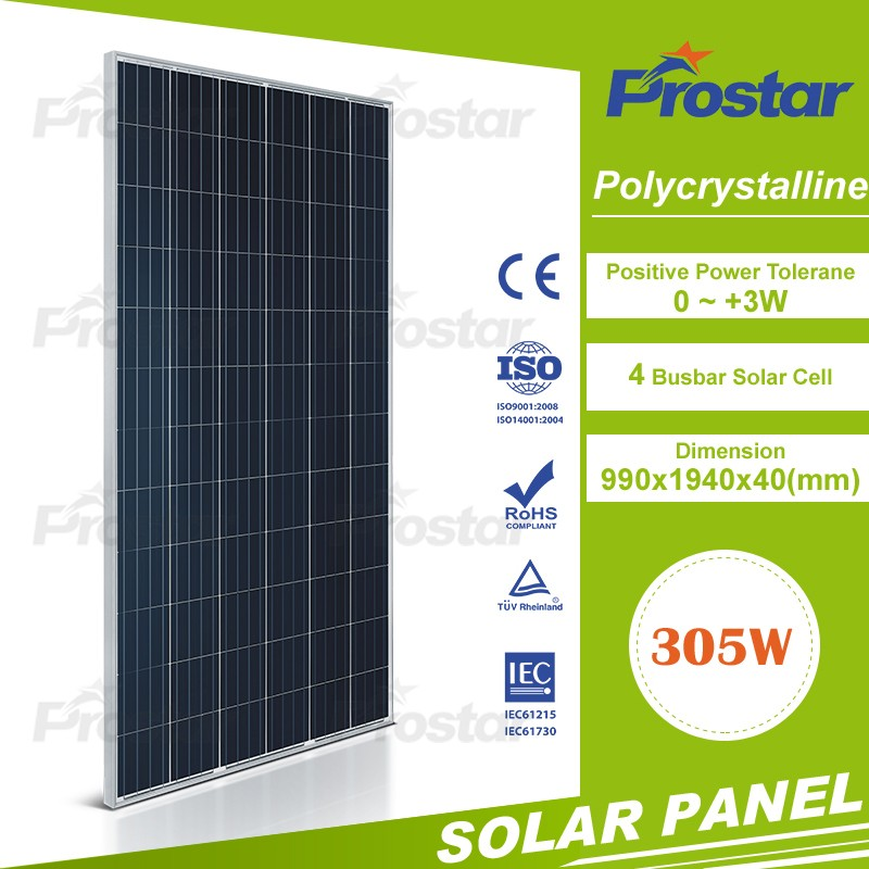High Efficiency PV Panels 300W 305w 310w Commercial Factory Roof Use Enery Solar Panel