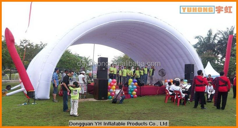 2014 hot sale PVC tarpaulin inflatable arch event tent for race