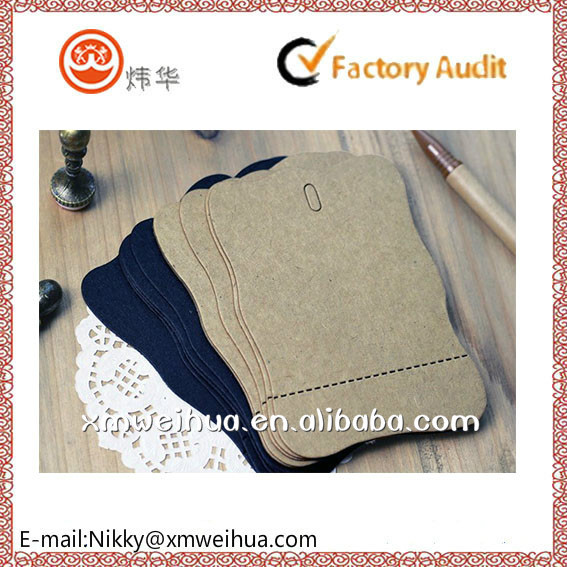 2015 foldable Kraft paper message card