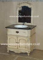 Vanity With Sink French Style Bath Room Furniture Antique Wastafel With Mirror European Home Furniture