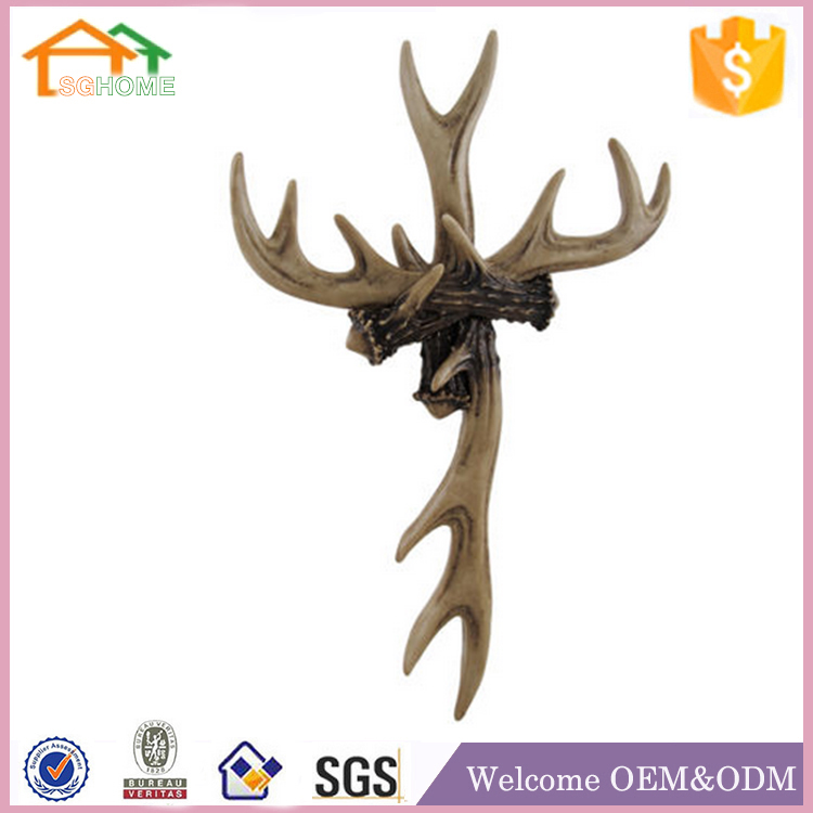 Factory Custom made home decoration polyresin resin antlers