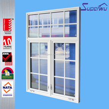 Australian standard simple window grills push up single glazed casement window