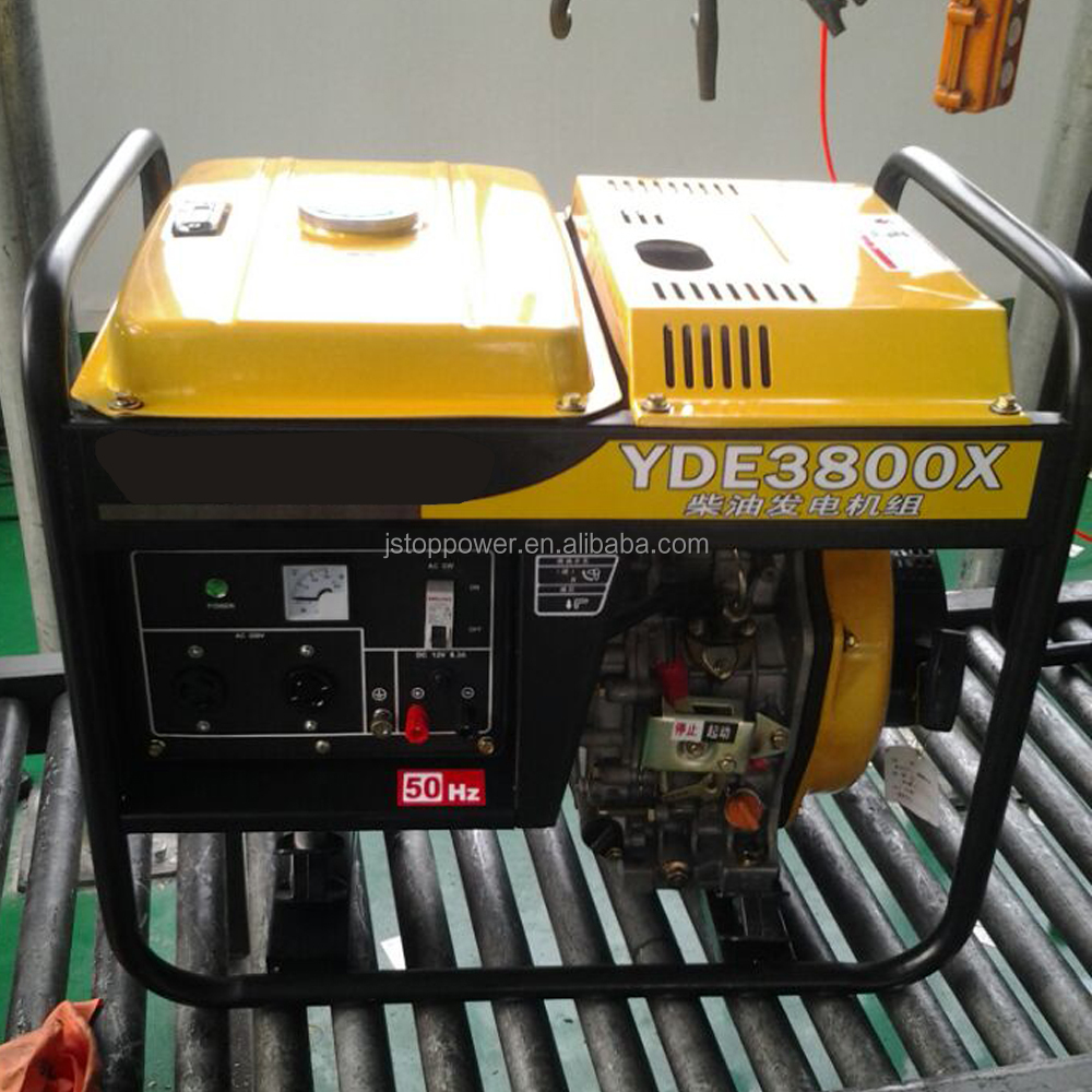 Air cooled 3kw 3kva silent/open type diesel generator