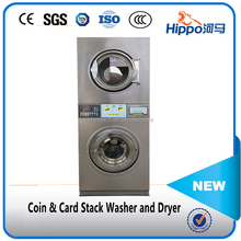 Hippo 12kg coin operated laundry washing machine and dryer