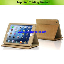 High Quality Wallet Leather Case for iPad Mini with Stand