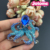 Silver Tone blue Rhinestones Ocean Sea Octopus Squid Tentacle Brooch Pin