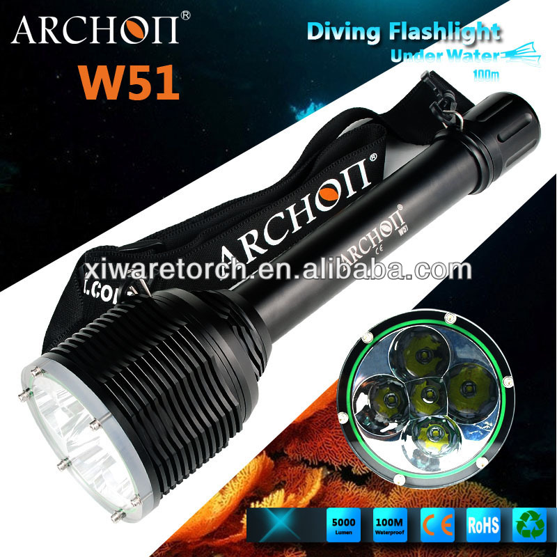 Cree LED 50 Watt Dive Hand Lamp/Diving Flashlight Torch W51
