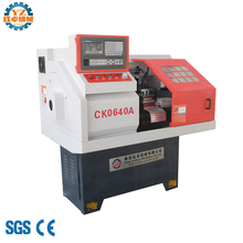 Mini cnc lathe machine CK0640 with tool post and slide and 3 jaw chuck