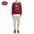 Round neck long sleeves 100%wool pullover sweater for men