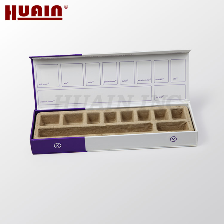 Custom Box Packaging Cardboard with Molded Pulp Compartments Tray