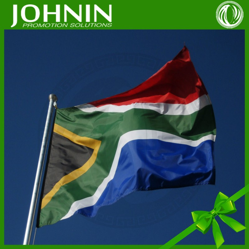 OEM promotionals JOHNIN made Custom polyester South african flag