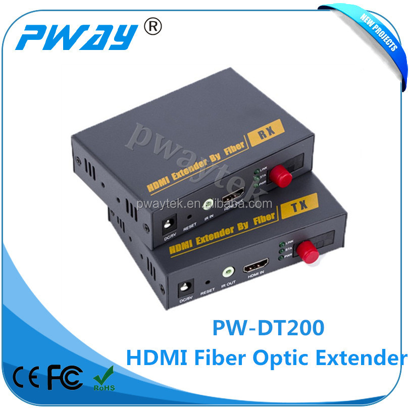 SFP 1310nm/1510nm 4 core fiber optic cable transmission HDMI video audio extender 20km with IR control
