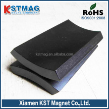 N35 arc neodymium magnet coating black epoxy