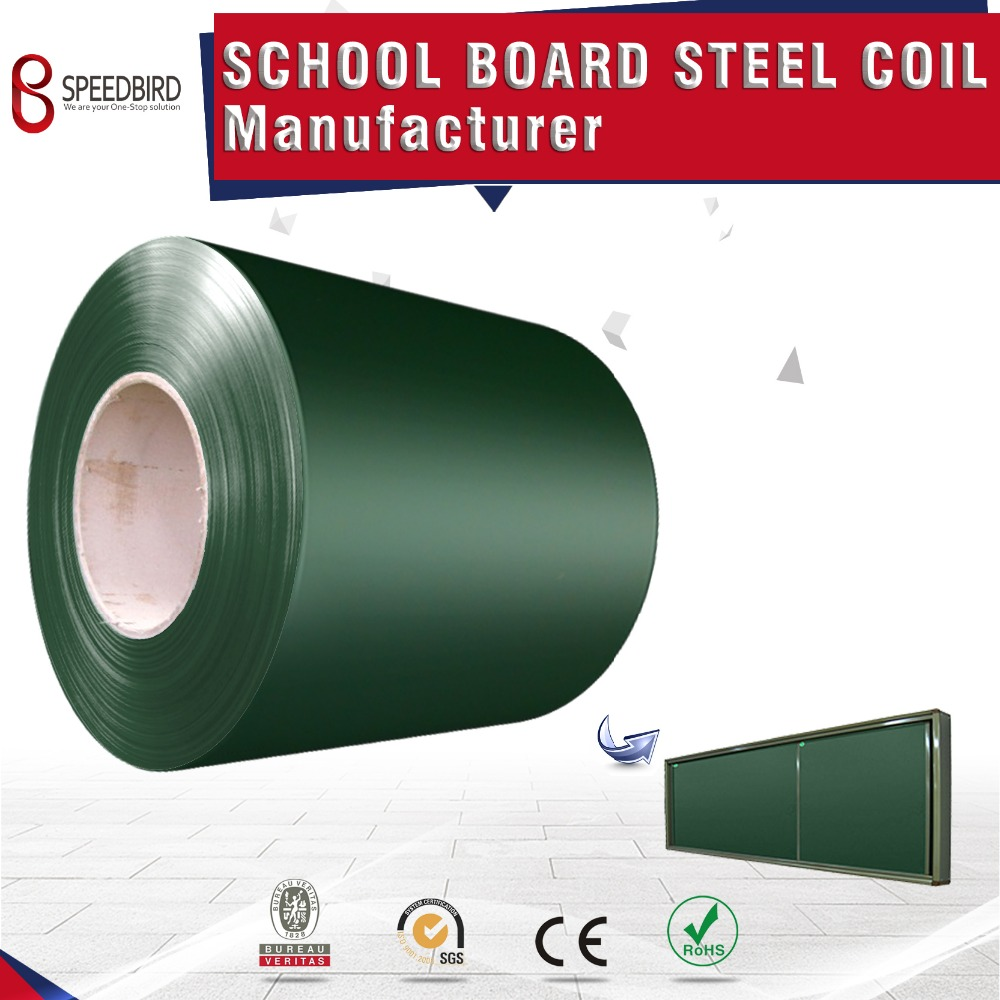Color coated chalk board steel coil for school furniture board surface steel
