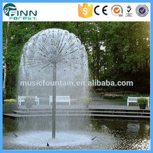 LED Light Outdoor Rotating Ball Dandelion Shape Water Fountain