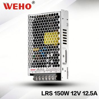WEHO hot sale 30mm slim type LRS-150-12 switching power supply 12vdc 150w 12.5a