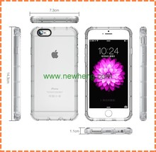 Shockproof Transparent Clear Soft TPU gel back cover case for iPhone 7