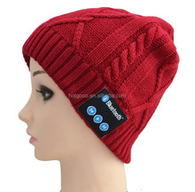 Winter Men Women Hat Running Cap with Bluetooth Stereo Headphones Mic Hands Free Rechargeable Battery for Mobile Phones,iPhone,