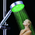 40 pcs per lot free shipping Single Green color type Lighting Up LED Shower head for fashion gift