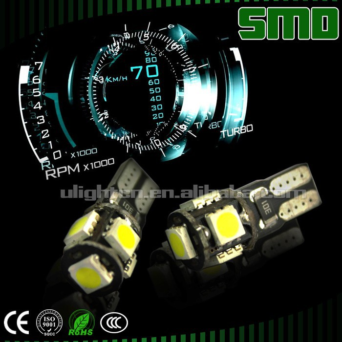 manufacturer LED T10 5SMD 5050 Canbus led car light bulb t10 194 led,t10 5w5 canbus car led auto bulb
