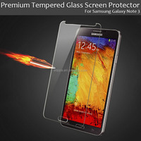 Ultra thin super clear no bubble 9H strong toughness tempered glass screen protective film for Samsung Galaxy Note 3