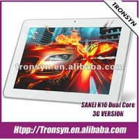 "Sanei N10 10.1"" IPS 3G Qualcomm Dual Core Tablet Pc Support GPS/Phone Call/Bluetooth"